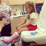 Uh oh! Stella McDermott required a trip to the ER when she broke her ankle falling off the monkey bars. Source: Instagram user torianddean