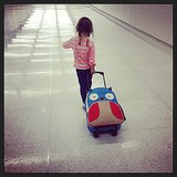 Harper Smith eagerly pulled her luggage through the airport on her way home. Source: Instagram user tathiessen