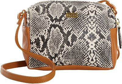 Be & D Snake Print Crossbody Bag