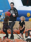 Pete Wentz and Bronx picked out interesting pumpkins.