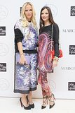 Keren Craig and Georgina Chapman were print-perfect at the Voyage launch at Saks.