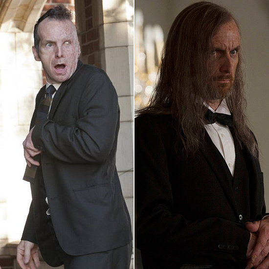 Denis O'Hare O'Hare made his AHS debut in the first season as Larry Harvey, a horrifically scarred man obsessed with the Harmons. He returns to the show this season as Spalding, the butler who serves the girls at Miss Robichaux's Academy for Exceptional Young Ladies.