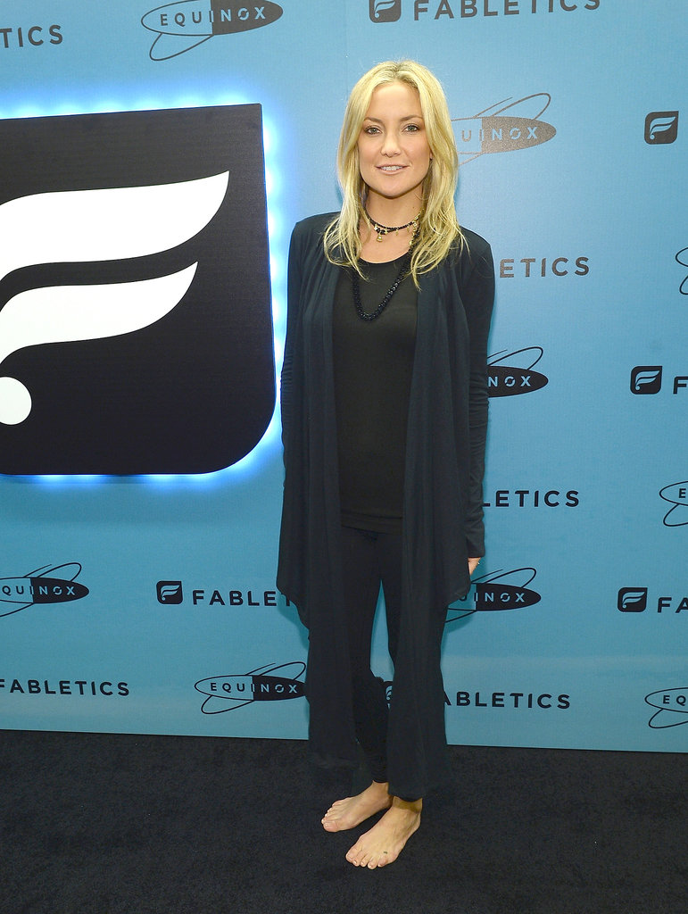 Kate Hudson stopped by Equinox Sports Club in LA to launch her fitness line.