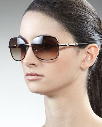 Givenchy Logo-Arm Metal Sunglasses