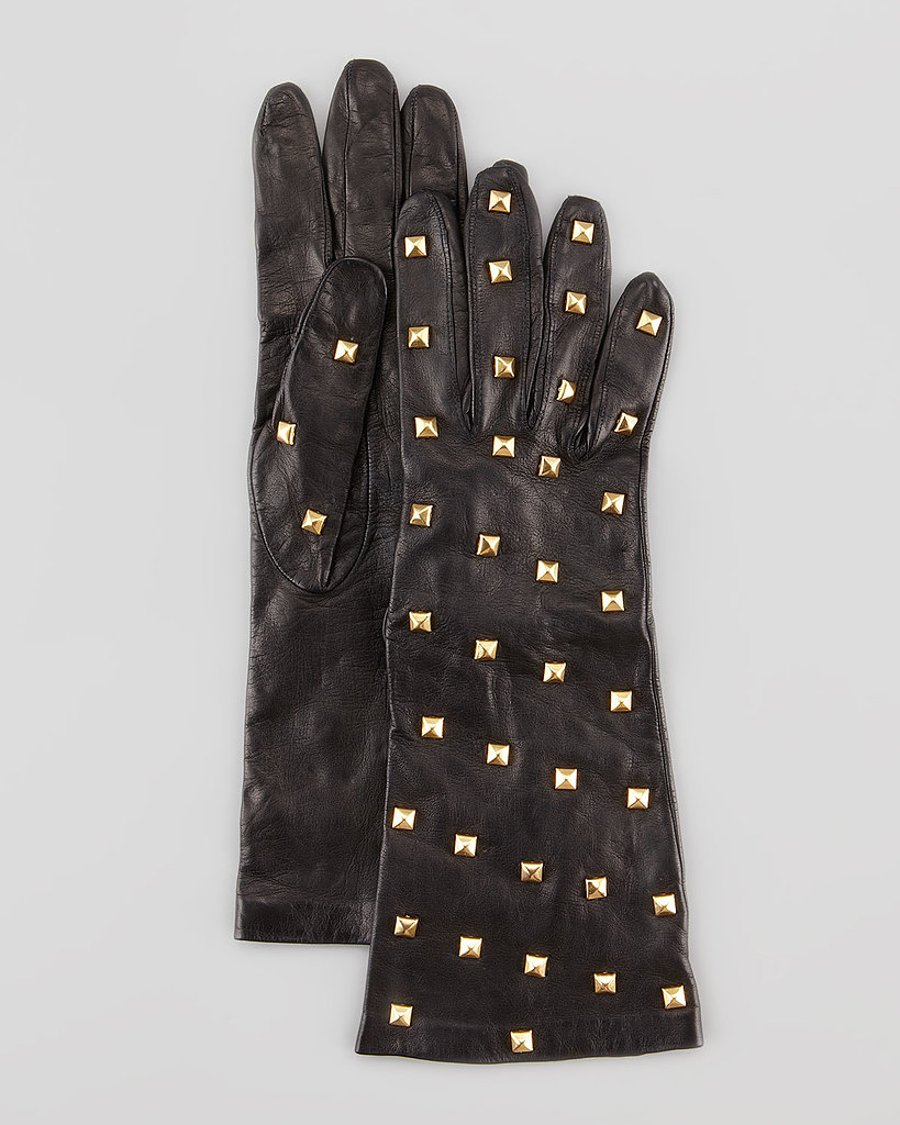 Even if these gold-studded gloves ($199) didn't come with  fingertips made for typing and texting, we'd want them just the same.