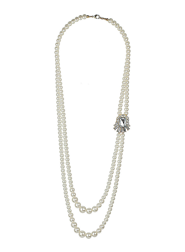 For an authentically accessorized look, layer on the pearls. Use this double-strand ($22) as a starter.