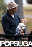 Tom Brady held on to baby Vivian.
