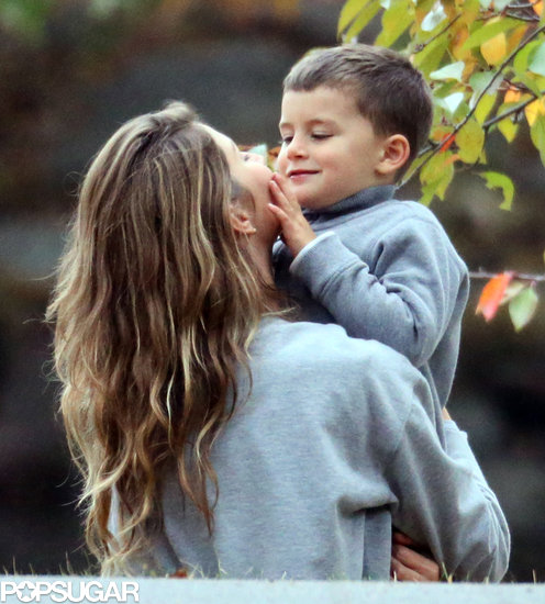 Gisele Bündchen shared a cute moment with Ben.