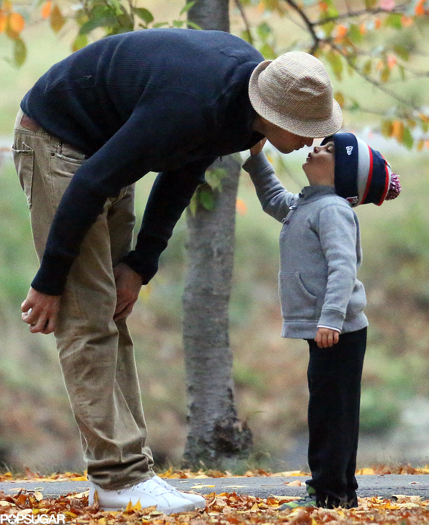 Tom Brady had a cute moment with his son Benjamin.