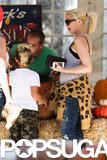 Gwen Stefani and Her Boys Get in the Halloween Spirit