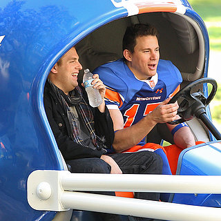 Channing Tatum and Jonah Hill on the 22 Jump Street Set