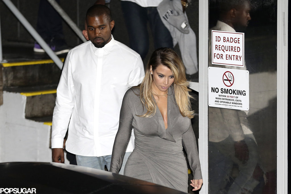 Kim Kardashian and Kanye West had a date night in downtown LA.