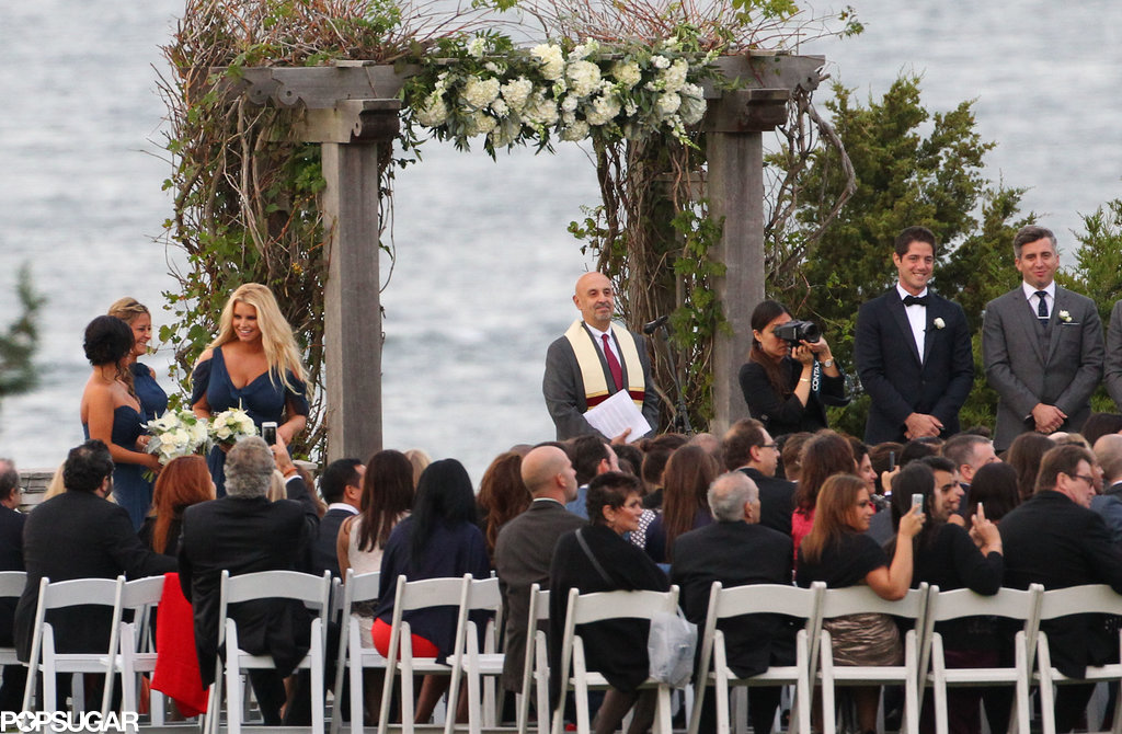 Jessica Simpson was a bridesmaid.