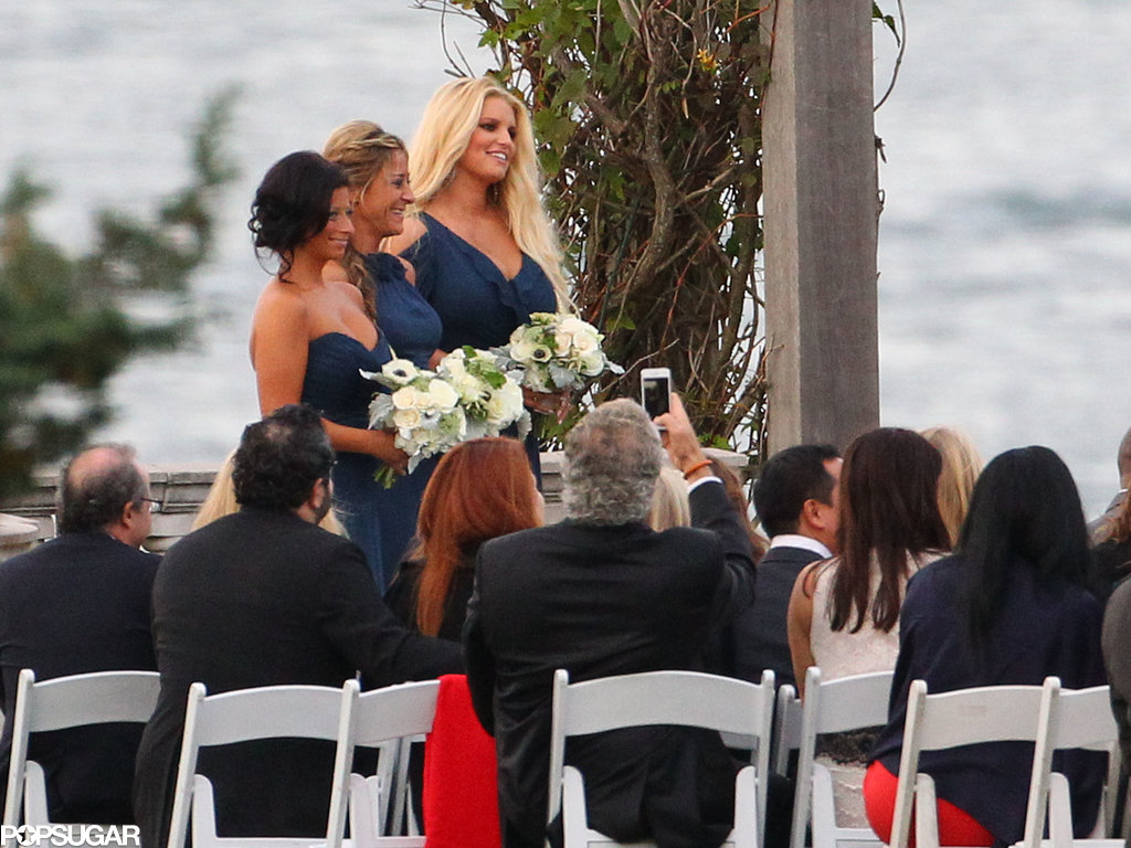 Jessica Simpson stood at the altar.