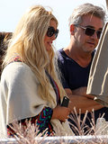 Jessica Simpson relaxed at a beach house in Rhode Island.