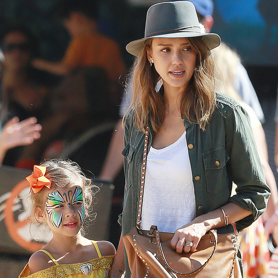 Jessica Alba & Daughters Honor, Haven Warren; Pumpkin Patch
