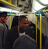 Jay Z and Chris Martin Take the London Underground Tube
