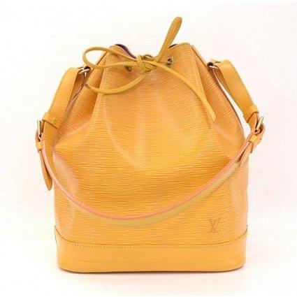 very good (VG) Louis Vuitton Yellow Epi Leather Noe Shoulder Bag