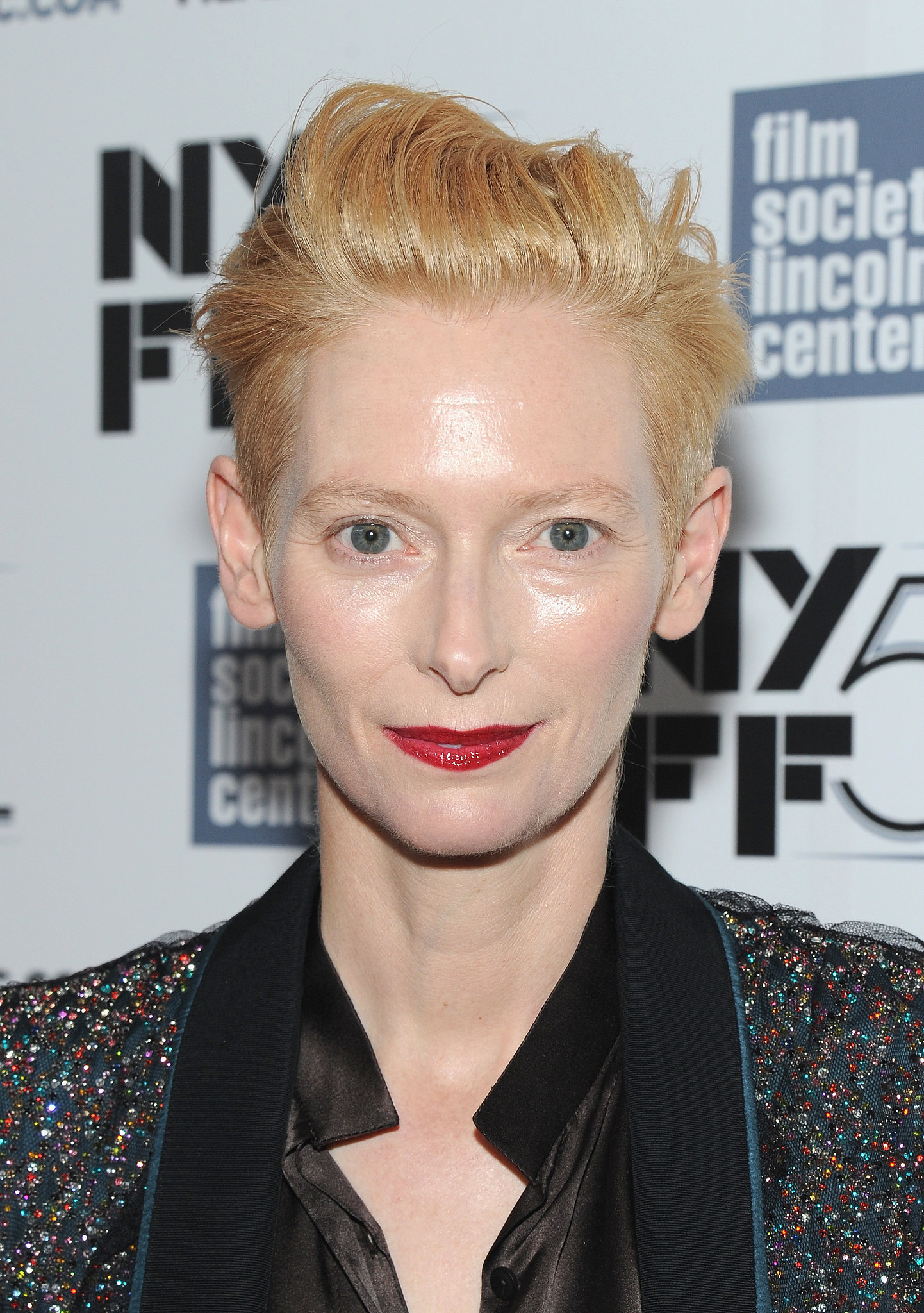 On the Only Lovers Left Alive red carpet, Tilda Swinton accented her