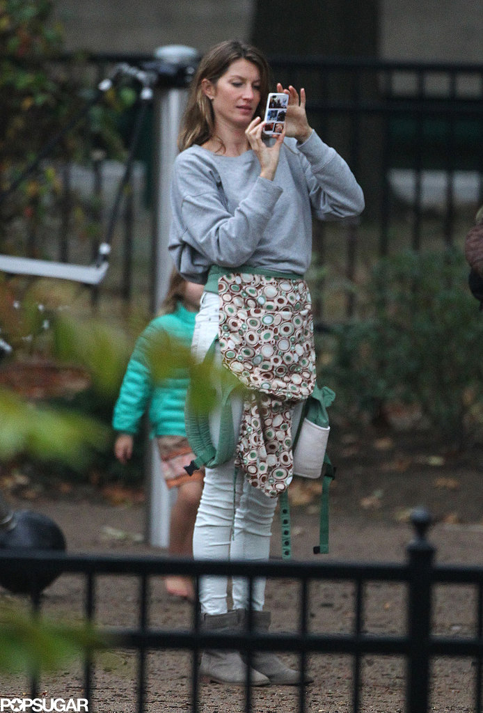 Gisele Bündchen snapped photos of her family at the park.