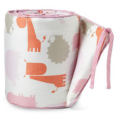 giggleBABY Pink Jungle Crib Bumper ($60)