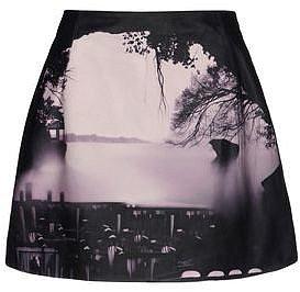 MARY KATRANTZOU Leather skirt