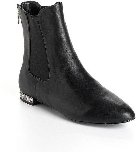 MODERN VICE Mystic Embellished-Heel Suede Ankle Boots