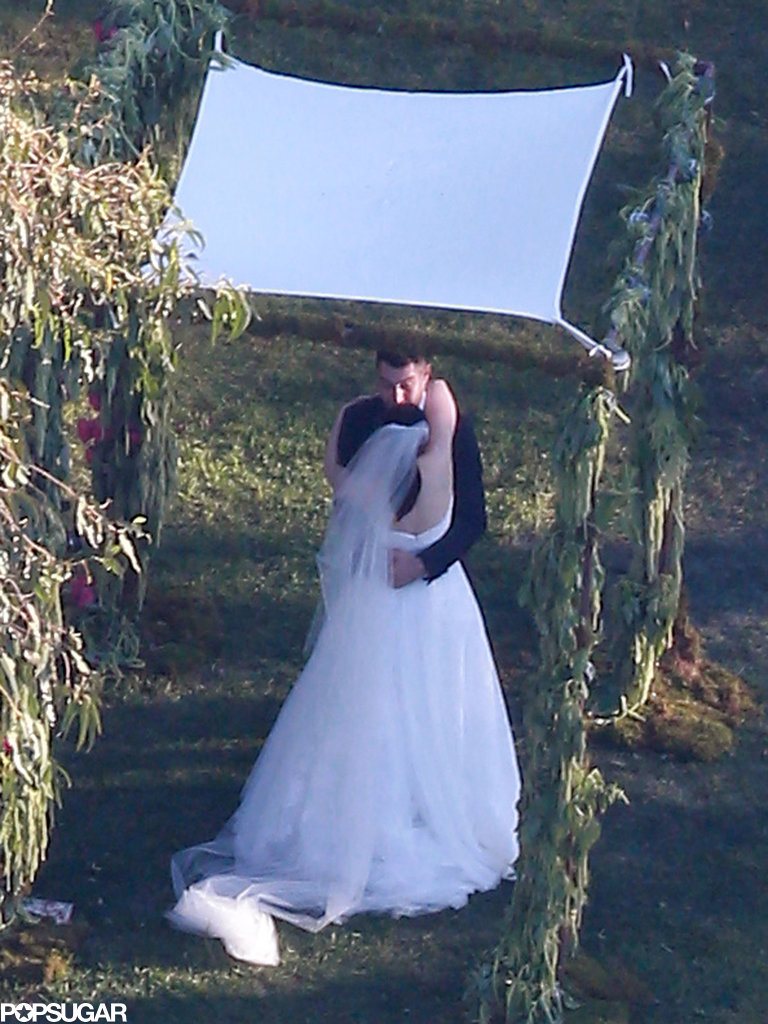 Rose McGowan and Davey Detail had an outdoor ceremony.