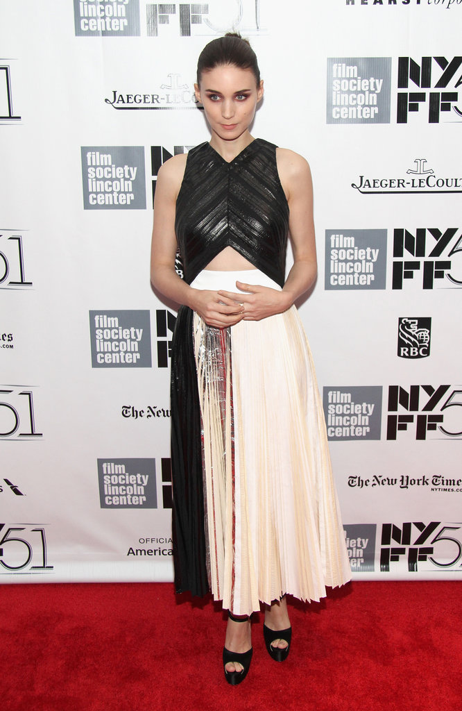Rooney Mara wore Spring 2014 Proenza Schouler to the New York premiere of her new film Her.