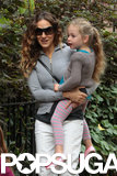Sarah Jessica Parker carried Tabitha to school on Friday in NYC.