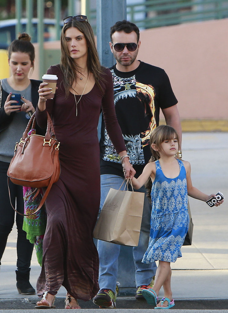 Alessandra Ambrosio spent her Saturday shopping with her family in LA.
