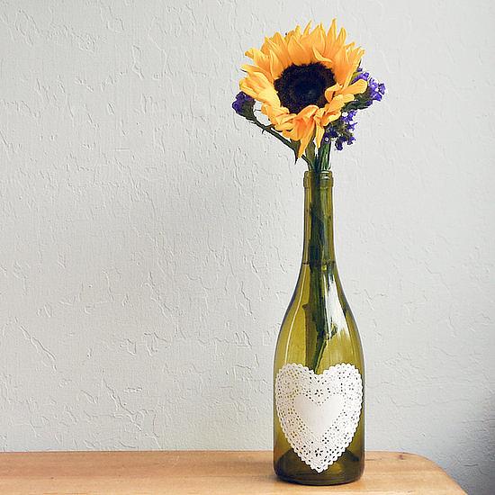 Doily Wine Bottle