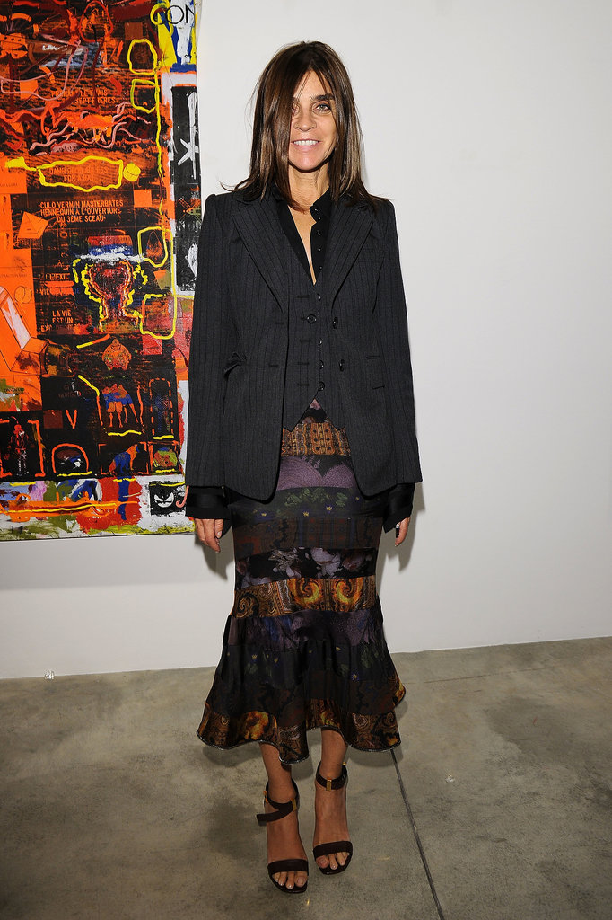Carine Roitfeld matched the artistic venue at the Cardi Black Box Gallery's opening night of Nicolas Pol's After Modern Vermin Control.