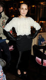 Noomi Rapace smoldered in her gloved ensemble at The London Edition Hotel.