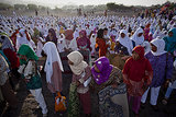 Muslims gathered at the beach in Yogyakarta, Indonesia, for Eid al-Adha.