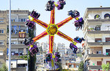 Syrian families celebrated Eid al-Adha with carnival rides in Damascus.