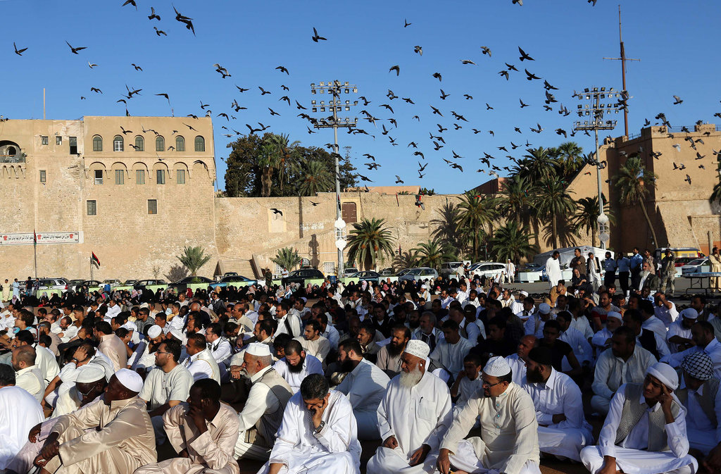 Martyr's Square in Libya was packed with Muslims there for Eid al-Adha prayers.