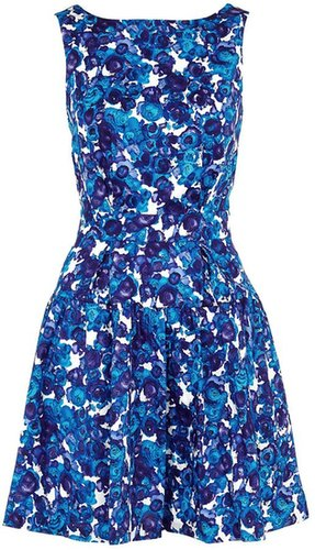 Thakoon Addition Blue Floral Criss Cross Dress