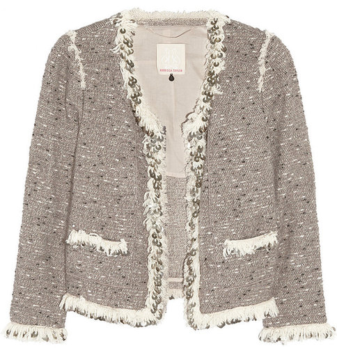 Rebecca Taylor Sequin-trimmed bouclé-tweed jacket
