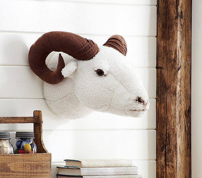 Stuffed Ram Head