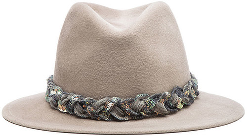 Eugenia Kim Harper Brushed Wool Felt Fedora in Oyster