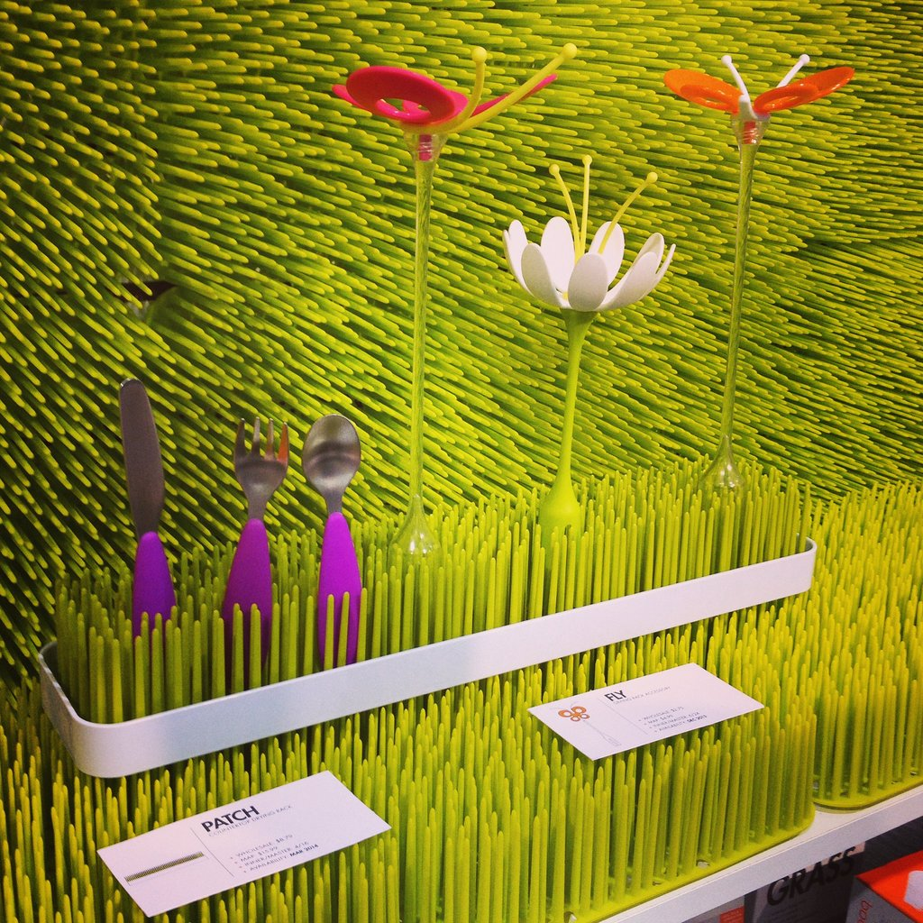 Boon reimagined its popular grass and will introduce Patch, a longer, narrower drying rack for baby's gear. It's also introducing Fly, flower-like pieces for drying smaller accessories.