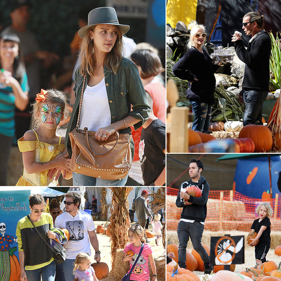 Famous Halloween Fans Hit the Pumpkin Patch!