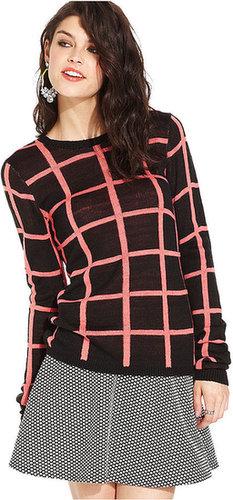 Teen Vogue Juniors Sweater, Long Sleeve Printed
