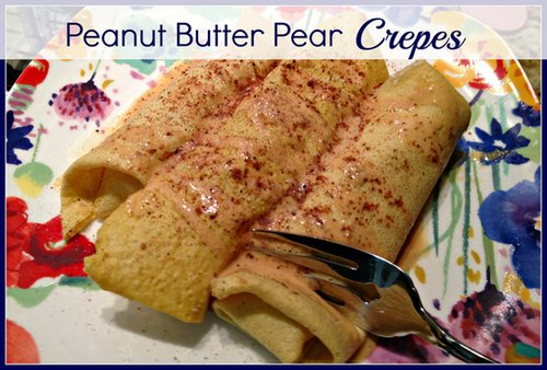 Gluten Free Peanut Butter Pear Crepes