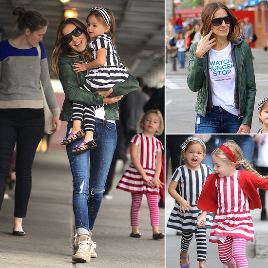 Sarah Jessica Parker's Adorable Twins Laugh, Skip, and Show Their Stripes