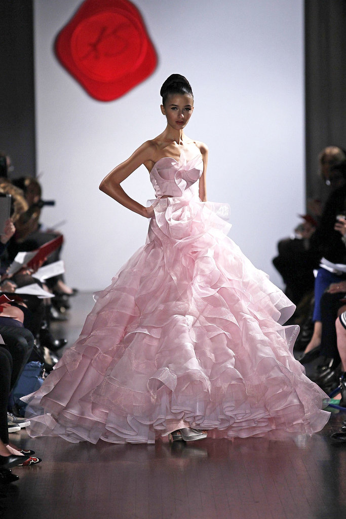 The trends of the wedding dress UK fall 2014 pink type 3