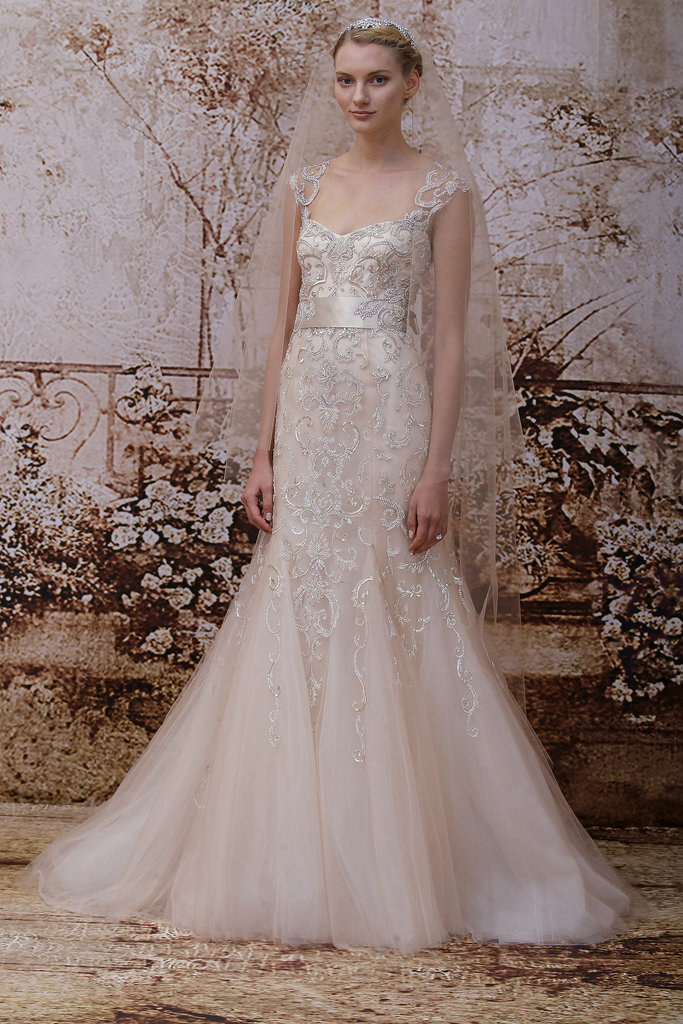 The trends of the wedding dress UK fall 2014 pink type 2
