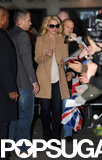 Britney Spears Nails the Royal Wave While Working in London