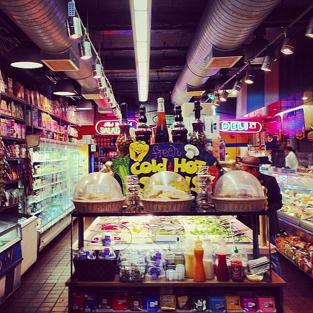 A Saturday night trip to the local deli has never looked more fashionable (trust us!). Source: Instagram user bat_gio